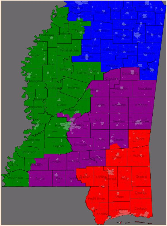 map of mississippi u.s. congressional districts. You can view that map here.